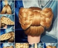 DIY Braided Big Bow Hairstyle