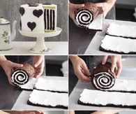 DIY Chocolate Stripe Cake