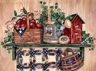 Country Shelf by Laurie Korsgaden