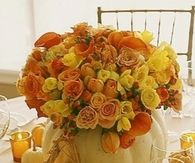 Gorgeous Fall Flowers & Pumpkins