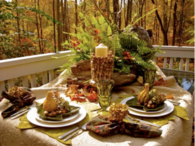 Dining Outdoors in Autumn