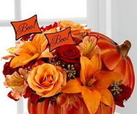 Fall Pumpkin Flower Centerpiece