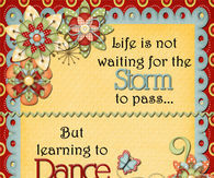 Life is not waiting for the storm to pass...