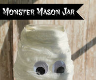Monster Mason Jar