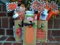Spooky halloween treat bags