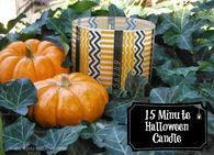 Washi Halloween Candle