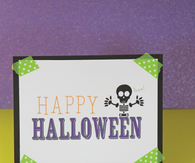 Mini easel and halloween print