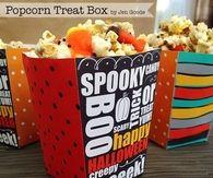 Halloween popcorn treat box