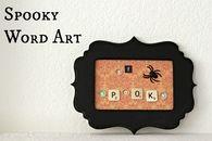 Spooky Word Art