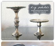 Faux Mercury Glass Pedestals