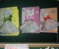 DIY Paper Dress Card Topper