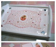 DIY Mosaic Tiles Tray