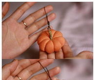 DIY Old T-Shirt Pumpkin Ornament