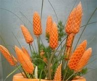 DIY Carved Carrot Flowers
