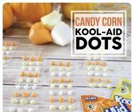 DIY Candy Corn Kool Aid Dots