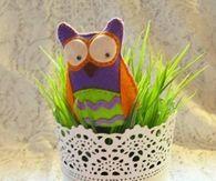 DIY Pretty Felt Owl