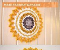 DIY Handmade Crochet Mandala