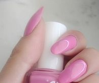 Essie pink gloss nails