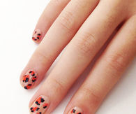 Hand paint leopard print nails
