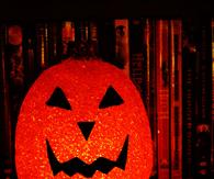 Glitter pumpkin decor
