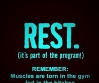Rest after your workout