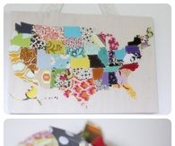US Map Wall Hanging