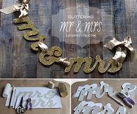 Glittering Wedding Banner