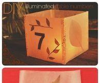 DIY illuminated table numbers
