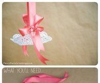 Lace Flower Girl Petal basket diy