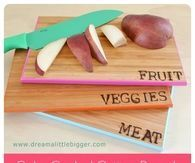 Color coded cutting boards tutorial
