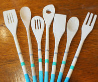 DIY Painted Wooden Utensils