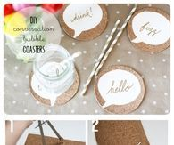 DIY Conversation Bubble Coasters