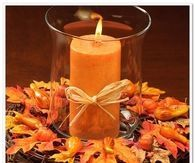 Fall Wreath with Candle Centerpiece