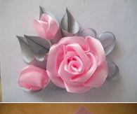 DIY Pink Ribbon Rose