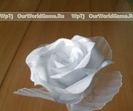DIY Modular White Ribbon Rose