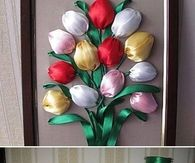 DIY Simple Ribbon Tulip Flower