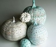 Stenciled Pumpkins with Studs
