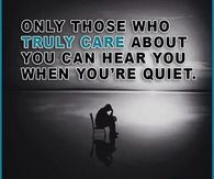 Only Those Who Truly Care