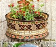 How To Turn An Old Wheel Into A Garden Planter