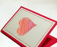How To Make A Heart Card With Sewing