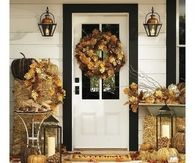 Country Fall Decorated Porch