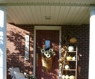Front Porch with Ladder for Fall Decorations