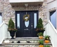 Fall Porch with Steps