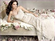 Beautiful Lace Strapless Wedding Gown