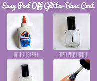 DIY Easy Glitter Peel Off Base Coat Nails Tutorial