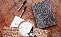 How to Make a Lace Patterned Notebook