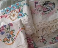 Vintage Embroidered Tableclothes