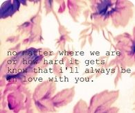 I will always be in love with you