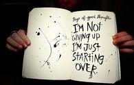 Im just starting over