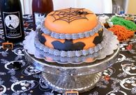 Spider bat halloween cake